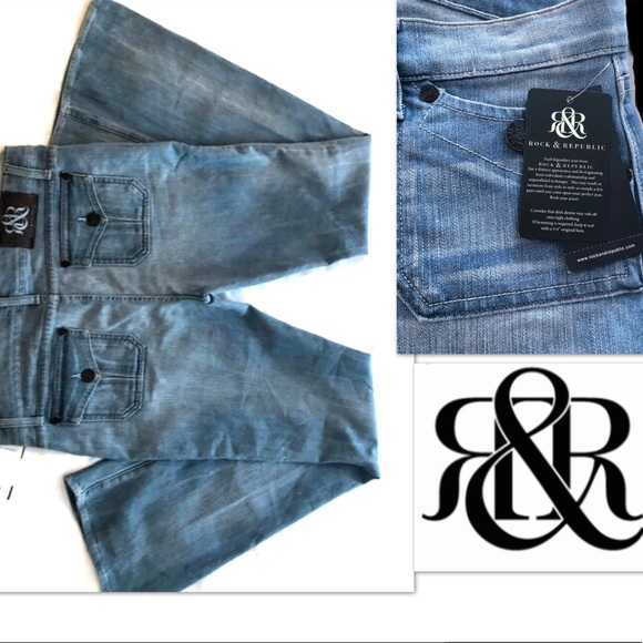 Rock & Republic Denim - Rock & Republic Jeans Fade Light Flare Distressed